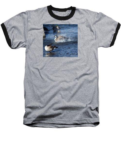 Everyone Duck Baseball T-Shirt by Bobbee Rickard