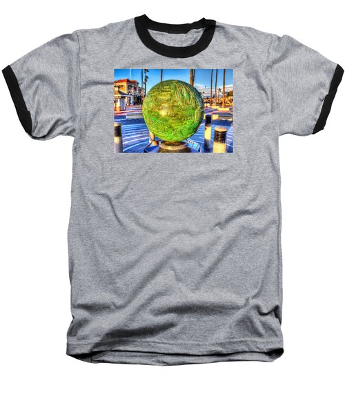 Everyone Is Welcome At The Beach Baseball T-Shirt by Jim Carrell