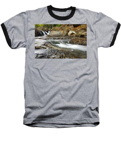 Everything Flows Baseball T-Shirt by Donna Blackhall