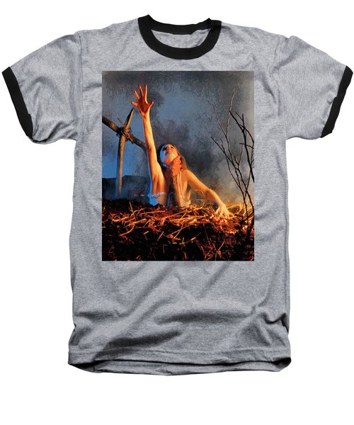 Evil Dead Baseball T-Shirt by Joe Misrasi