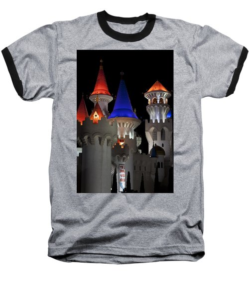 Excalibur Casino After Midnight Baseball T-Shirt by Ivete Basso Photography