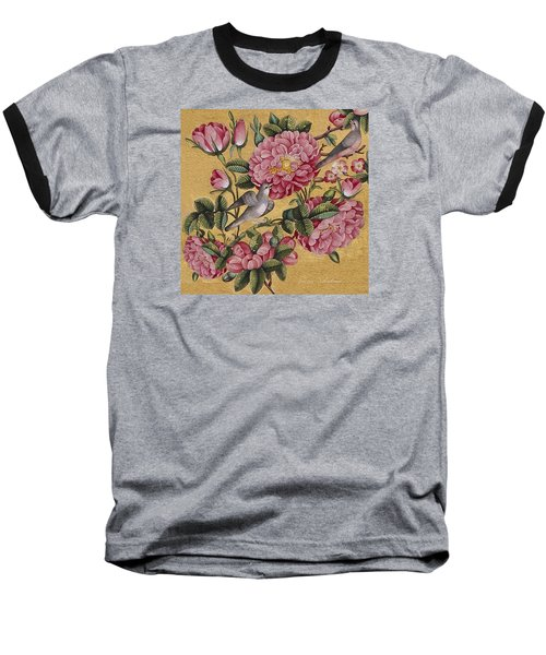 Excotic Camellias Baseball T-Shirt by Enzie Shahmiri