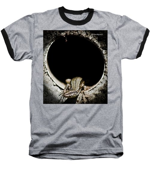 Baseball T-Shirt featuring the photograph Exit Of Lizard Devil by Stwayne Keubrick