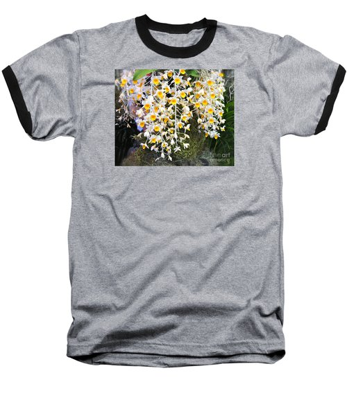 Exotic Aerides Baseball T-Shirt by The Art of Alice Terrill