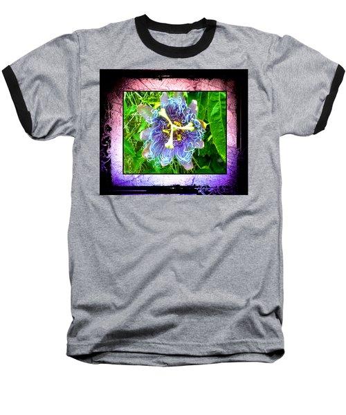 Baseball T-Shirt featuring the photograph Exotic Strange Flower by Absinthe Art By Michelle LeAnn Scott