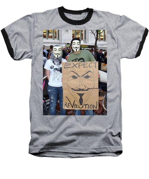Baseball T-Shirt featuring the photograph Expect Revolution by Ed Weidman