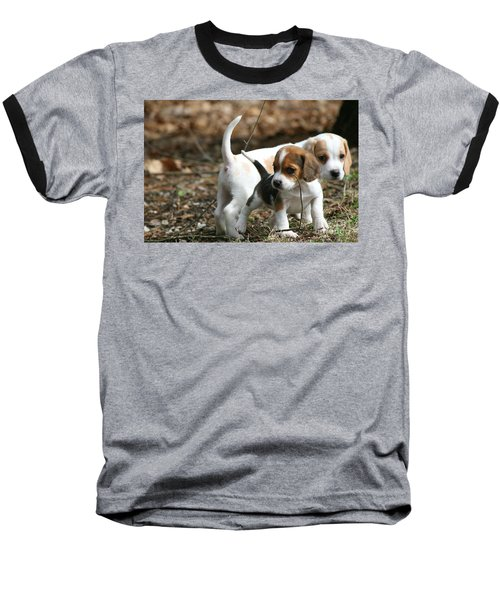 Exploring Beagle Pups Baseball T-Shirt