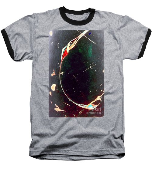 Baseball T-Shirt featuring the painting Exploring New Depths by Jacqueline McReynolds