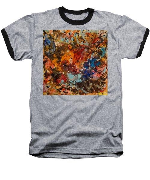 Explosive Chaos Baseball T-Shirt by Natalie Holland