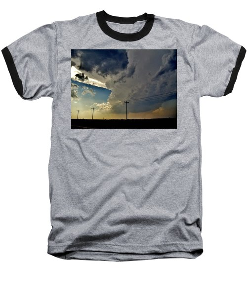 Baseball T-Shirt featuring the photograph Explosive Texas Supercell by Ed Sweeney
