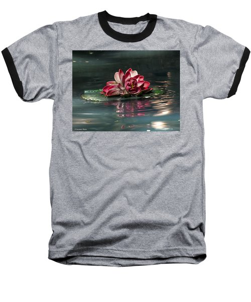 Baseball T-Shirt featuring the photograph Exquisite Water Flower  by Lucinda Walter