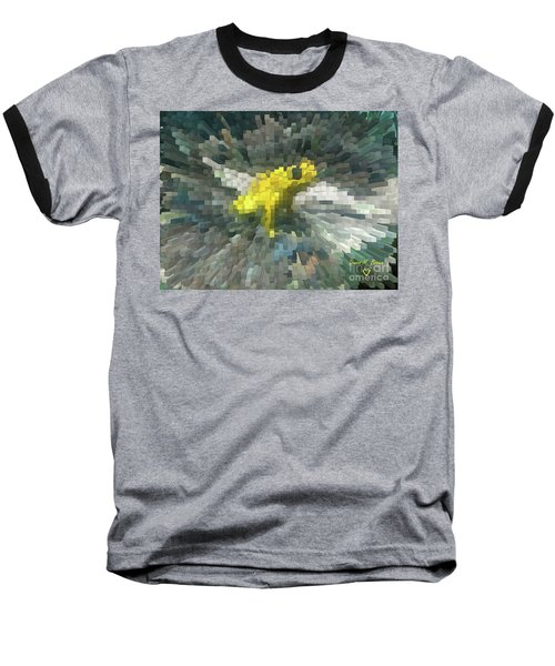 Baseball T-Shirt featuring the photograph Extrude Yellow Frog by Donna Brown
