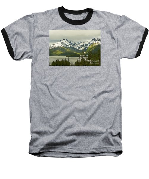 Eyak Lake Landscape Baseball T-Shirt