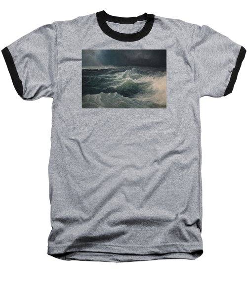 Eye Of Storm Baseball T-Shirt by Mikhail Savchenko