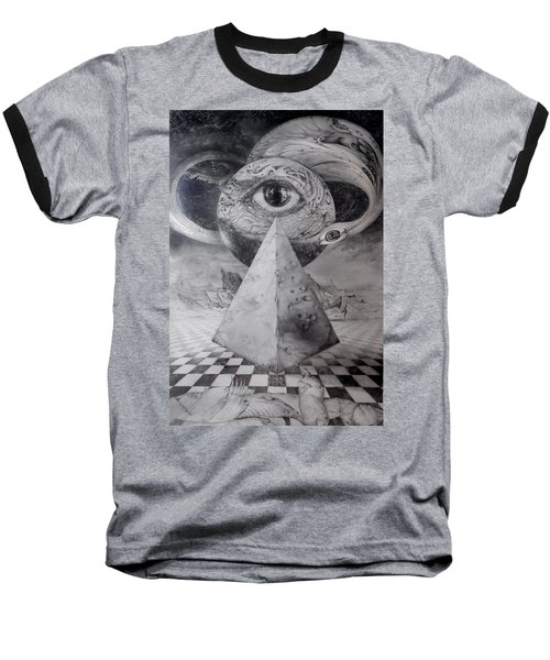 Eye Of The Dark Star - Journey Through The Wormhole Baseball T-Shirt by Otto Rapp