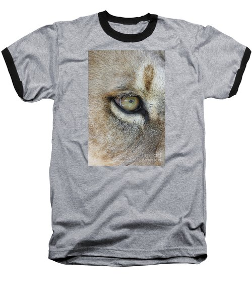 Baseball T-Shirt featuring the photograph Eye Of The Lion by Judy Whitton