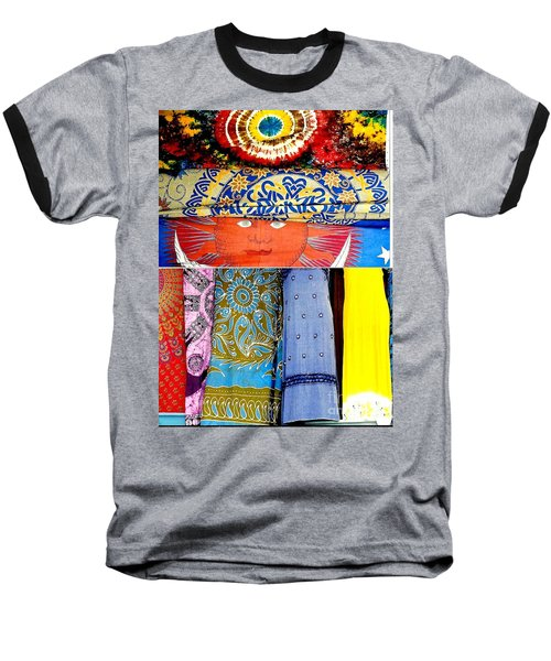 Baseball T-Shirt featuring the photograph New Orleans Eye See Fabric In Lifestyles by Michael Hoard