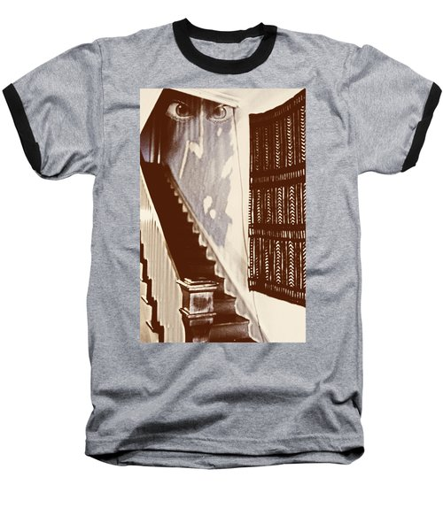 Eyes At The Top Of The Stairs Baseball T-Shirt
