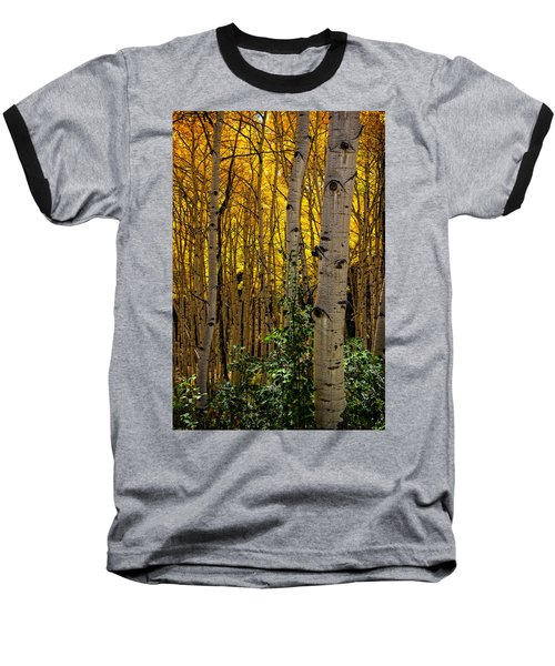 Baseball T-Shirt featuring the photograph Eyes Of The Forest by Ken Smith