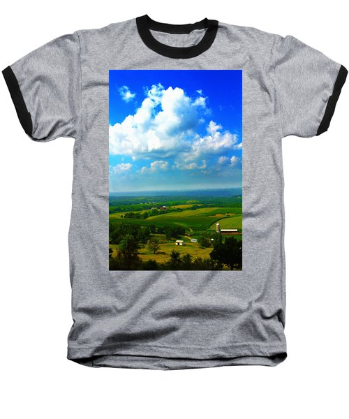 Eyes Over Farmland Baseball T-Shirt