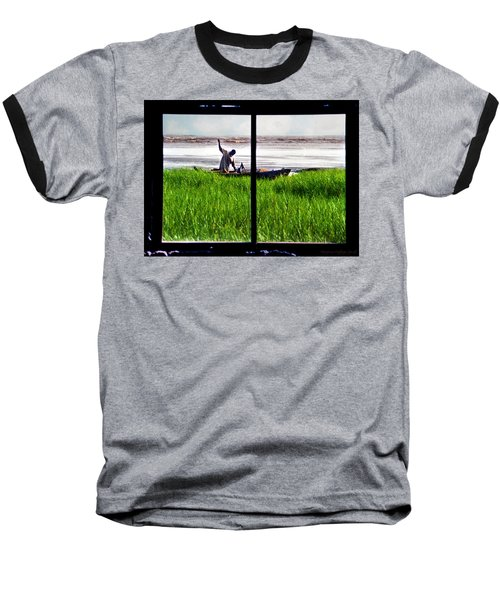 Fisherman Window Framed Baseball T-Shirt