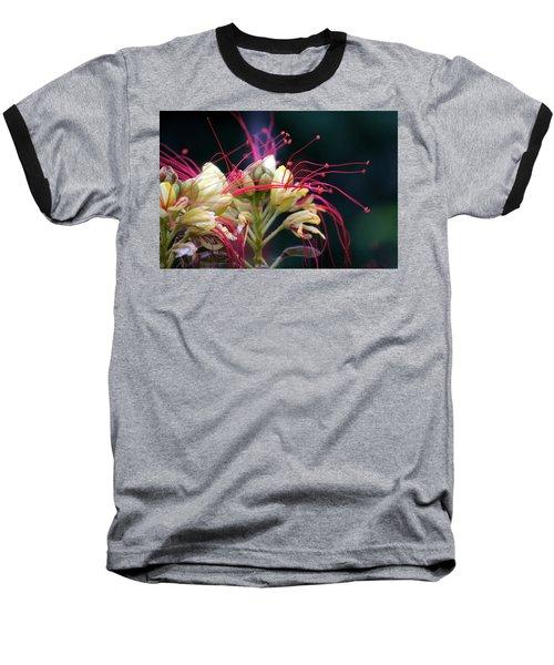 Fab Flower Baseball T-Shirt by Debi Demetrion