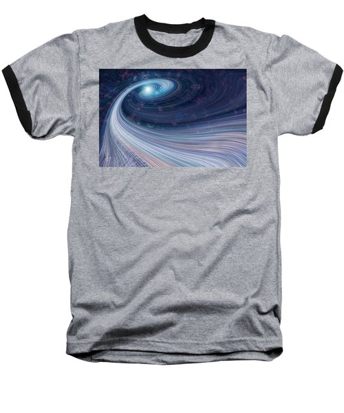 Baseball T-Shirt featuring the digital art Fabric Of Space by Fran Riley