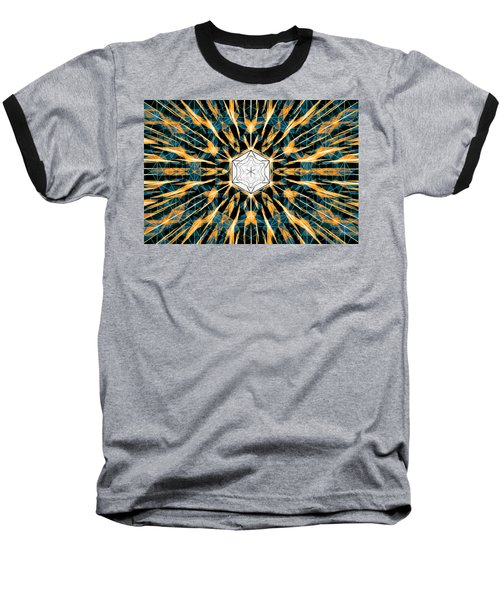 Baseball T-Shirt featuring the drawing Fabric Of The Universe by Derek Gedney