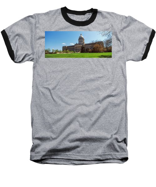 Facade Of State Capitol Building Baseball T-Shirt