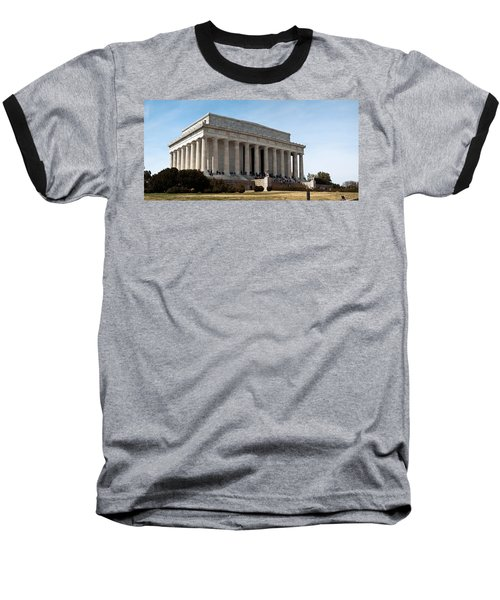 Facade Of The Lincoln Memorial, The Baseball T-Shirt by Panoramic Images