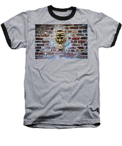 Face Fountain In Pirates Courtyard Baseball T-Shirt