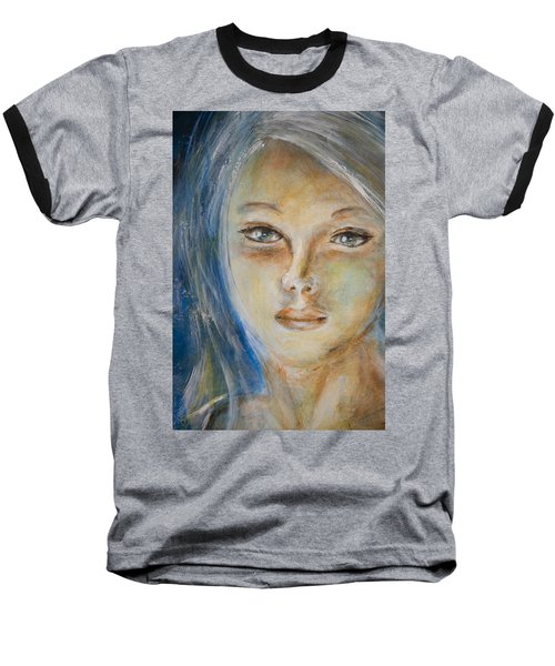 Face Of An Angel Baseball T-Shirt by Nik Helbig
