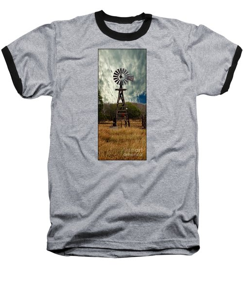 Baseball T-Shirt featuring the photograph Face The Wind - Windmill Photography Art by Ella Kaye Dickey
