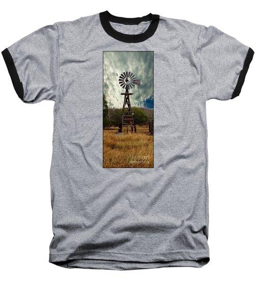 Face The Wind - Windmill Photography Art Baseball T-Shirt