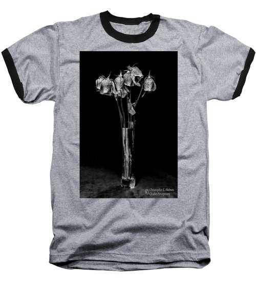 Faded Long Stems - Bw Baseball T-Shirt