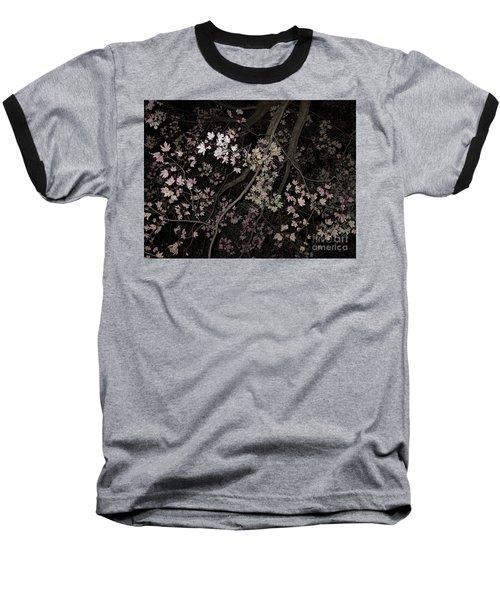 Fading Fall Baseball T-Shirt by Ann Horn