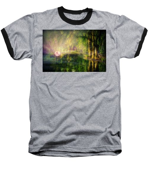 Fairy In Pink Bubble In Serenity Forest Baseball T-Shirt