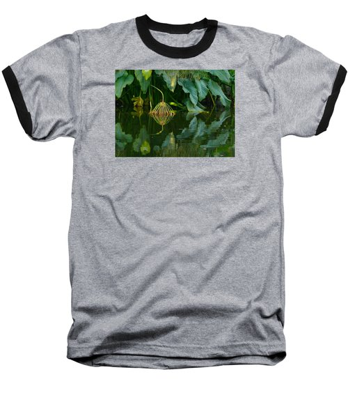Fairy Pond Baseball T-Shirt by Evelyn Tambour