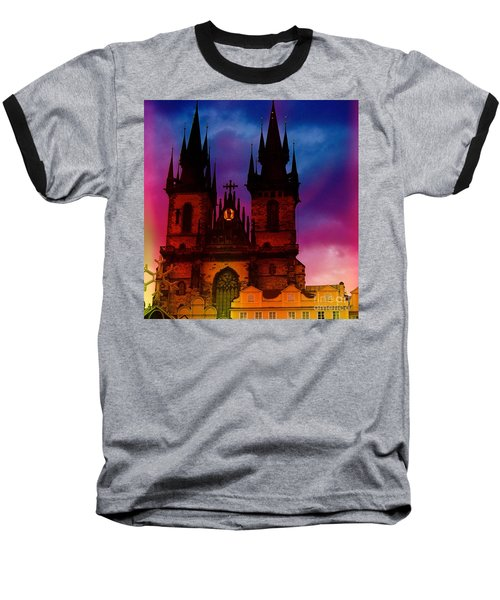 Fairy Tale Castle Prague Baseball T-Shirt