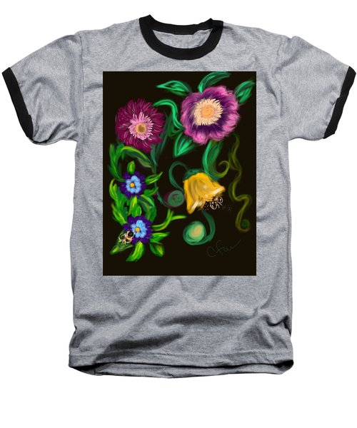 Fairy Tale Flowers Baseball T-Shirt