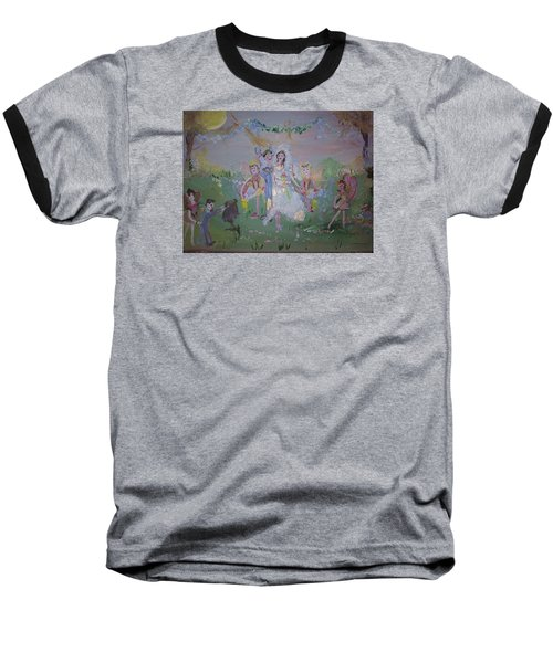 Fairy Wedding Baseball T-Shirt by Judith Desrosiers