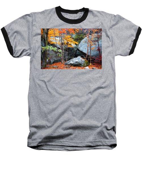 Baseball T-Shirt featuring the photograph Fall Among The Rocks by Bill Howard