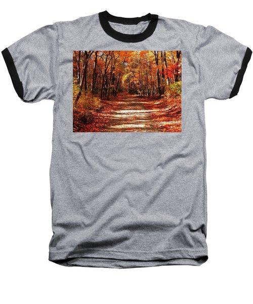 Baseball T-Shirt featuring the photograph Fall At Cheesequake by Raymond Salani III