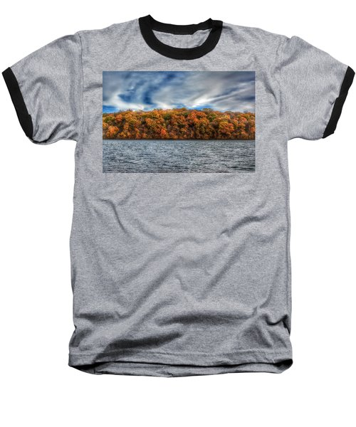 Fall At The Lake Baseball T-Shirt