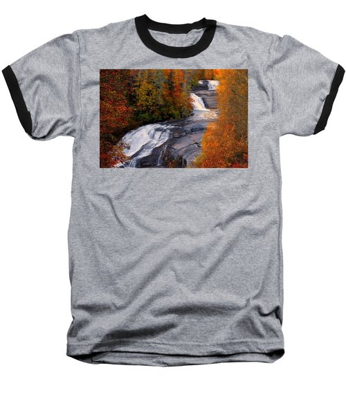 Fall At Triple Falls Baseball T-Shirt