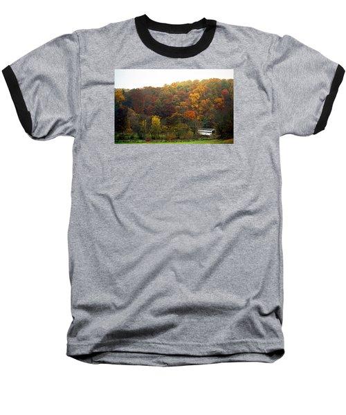 Fall At Valley Forge Baseball T-Shirt by Skip Willits