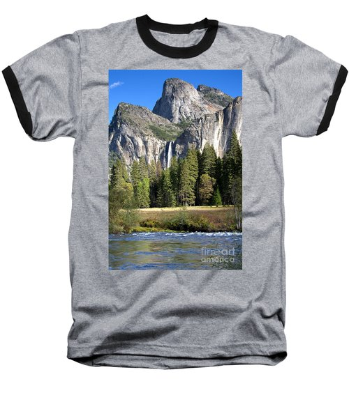 Yosemite National Park-sentinel Rock Baseball T-Shirt by David Millenheft
