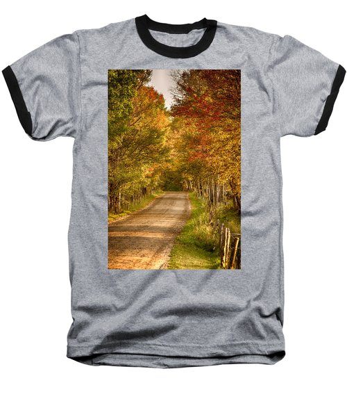 Baseball T-Shirt featuring the photograph Fall Color Along A Peacham Vermont Backroad by Jeff Folger
