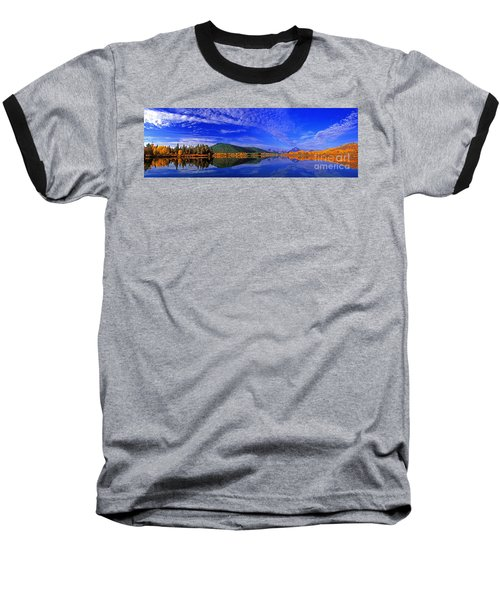 Baseball T-Shirt featuring the photograph Fall Color Oxbow Bend Grand Tetons National Park Wyoming by Dave Welling