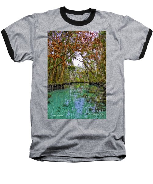 Fall Colors Along Three Sisters Spring Run Baseball T-Shirt